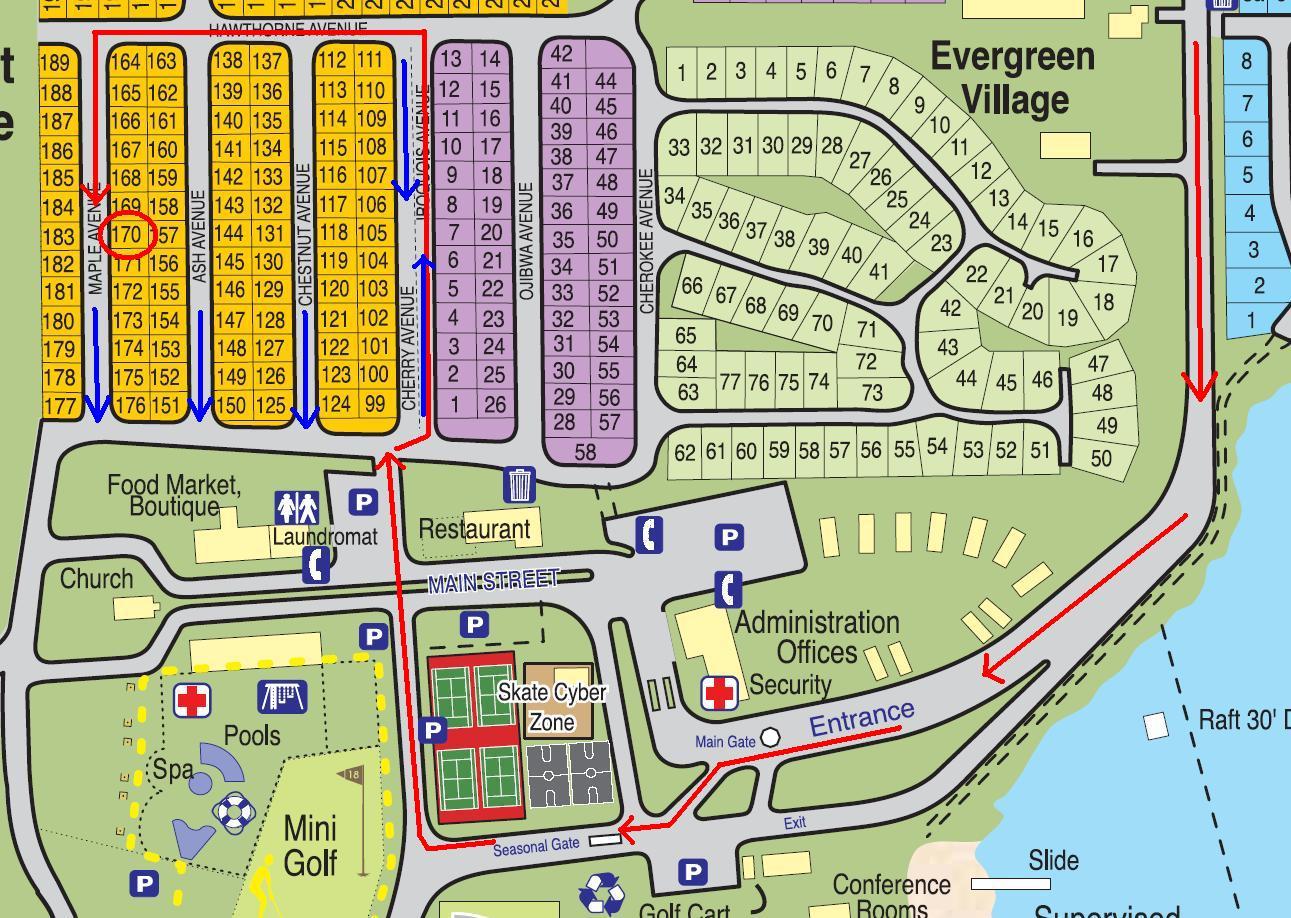 Sherkston Shores Map Glen Haven